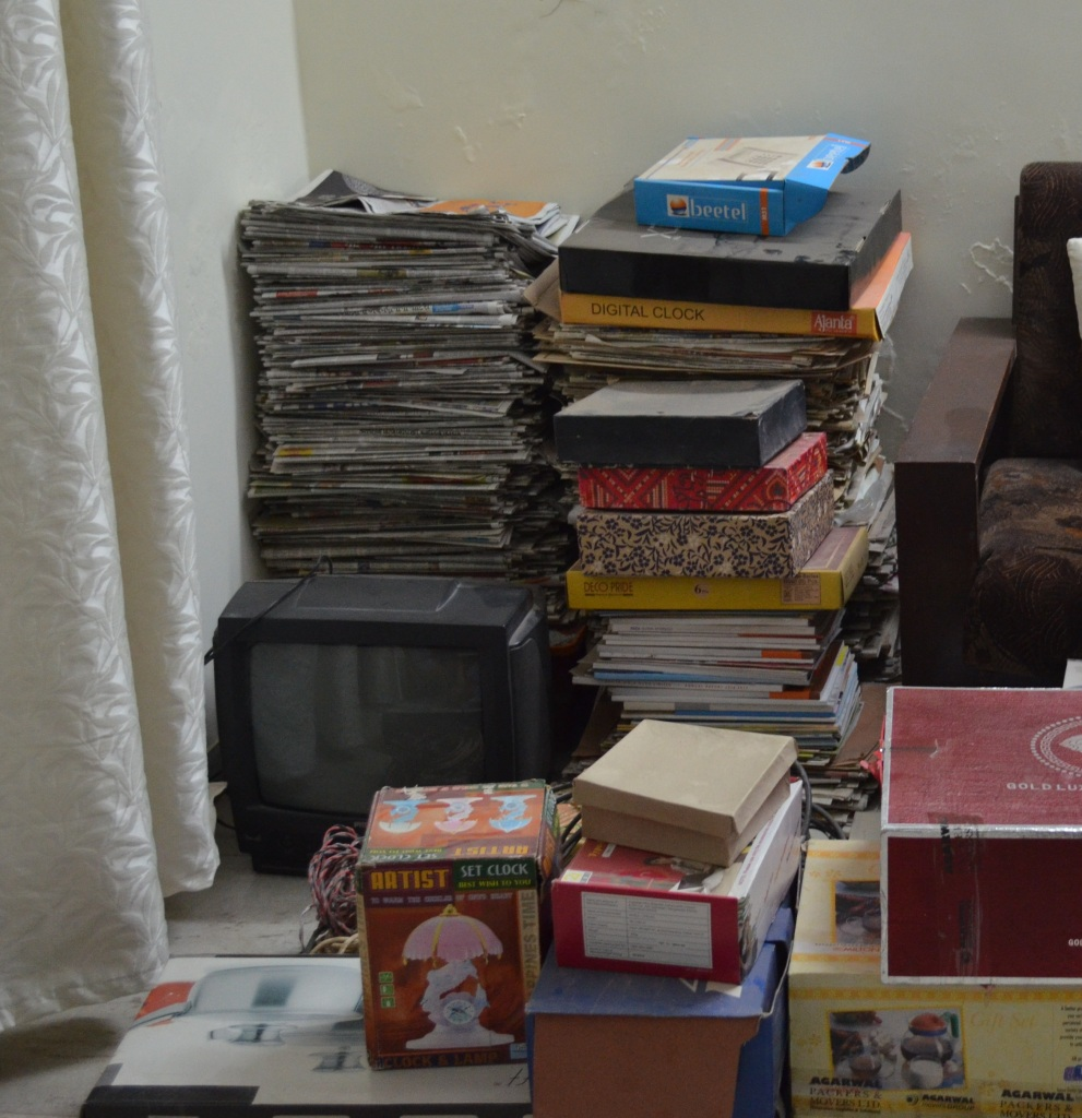 I gave off electronic items, cardboard boxes and old newspapers & magazines to WoW, Ahmedabad.