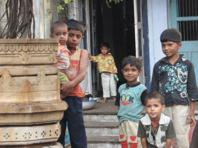 Children posing for a photograph. :)