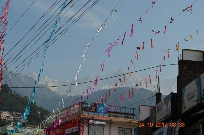 Festive streets of Kotwali bazaar, Dharmashaala.