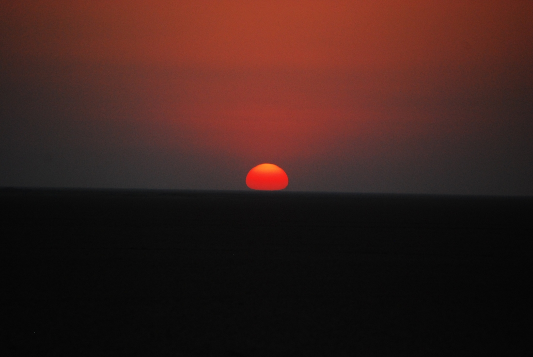 Sunset over the Little Rann of Kutch.