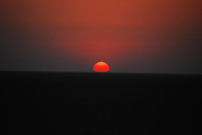Sunset over the Little Rann of Kutch.