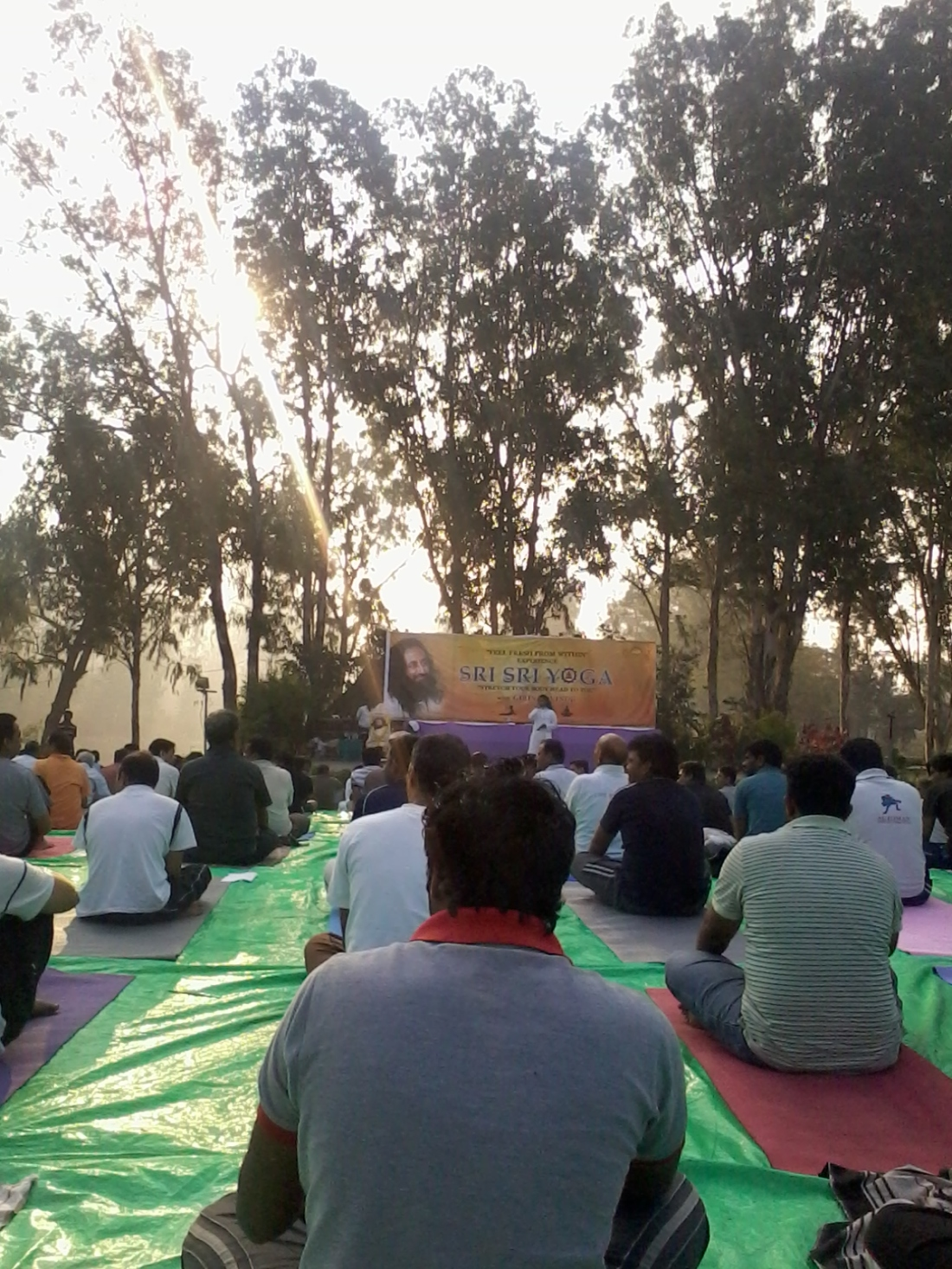 Sri Sri Yoga camp at Botanical Gardens, Hyderabad.