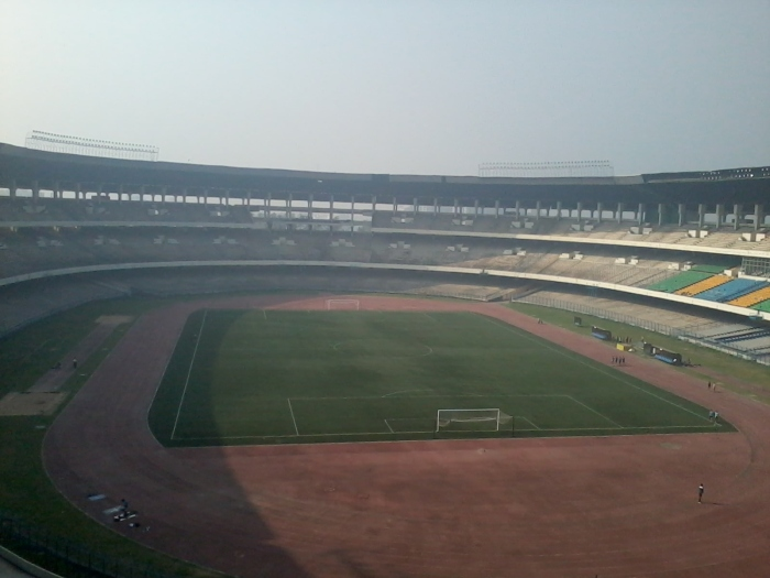 Salt lake stadium at 8 am in the morning.