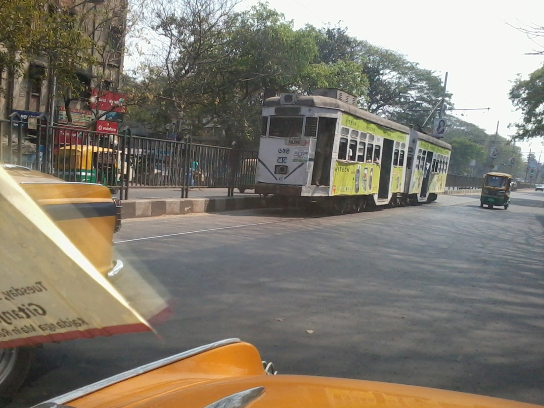 Kolkata trams. The only place they still operate in India.