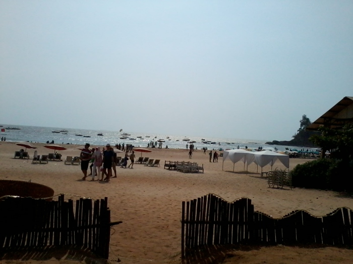 At the Baga beach, Goa.