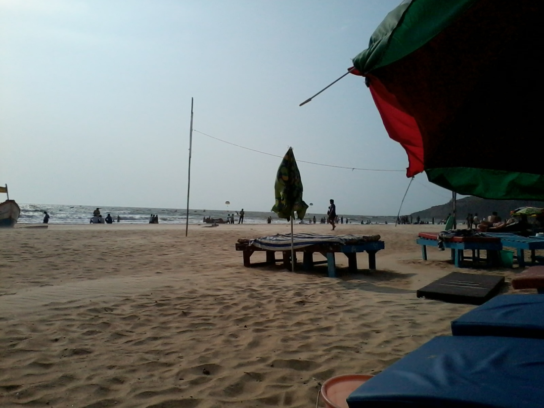 A view from our sun bed on Baga beach.