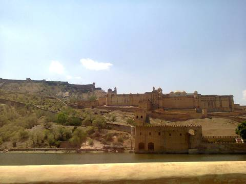 I am yet to see a more beautiful fort. Amer fort, Rajasthan.