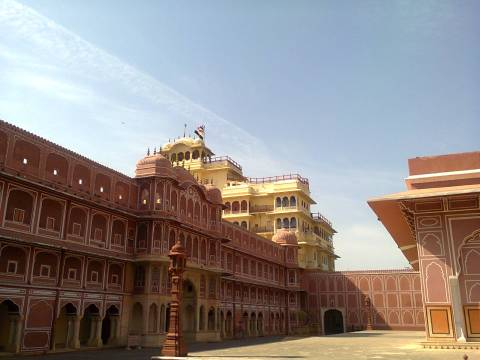 City Palace, Jaipur. The royal family continues living here.