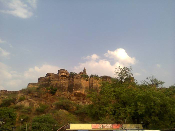 Maharani Gayatri Devi's palace-cum-fort just behind the Birla Mandir.