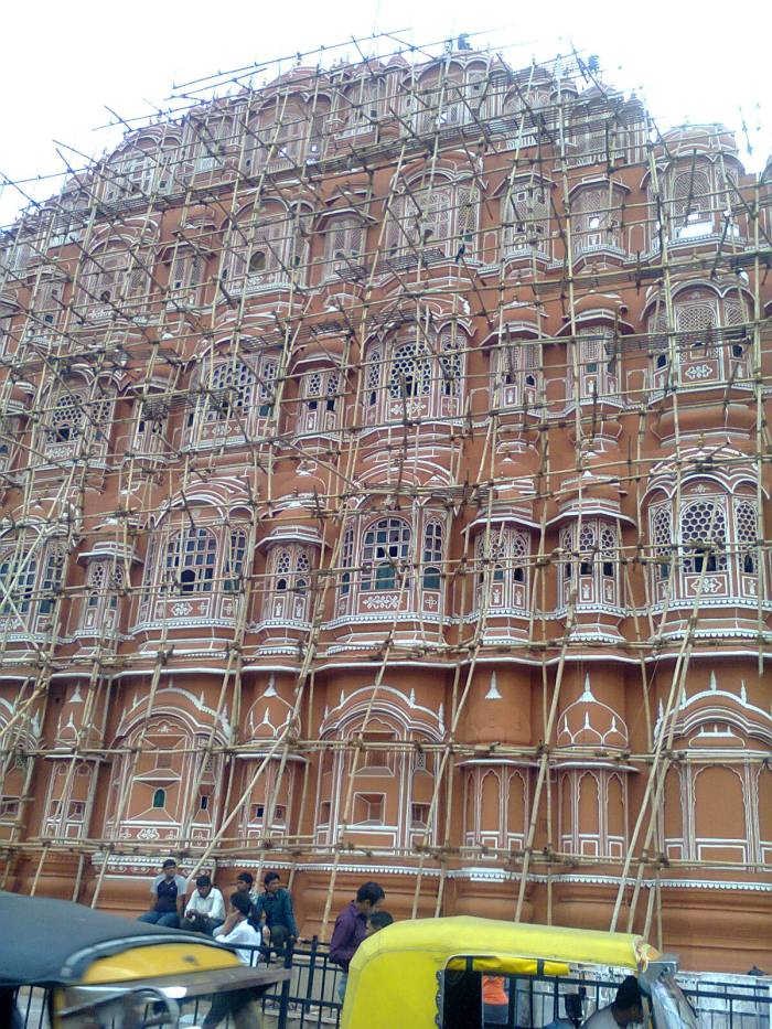 The symbol of Jaipur - Hawa Mahal.