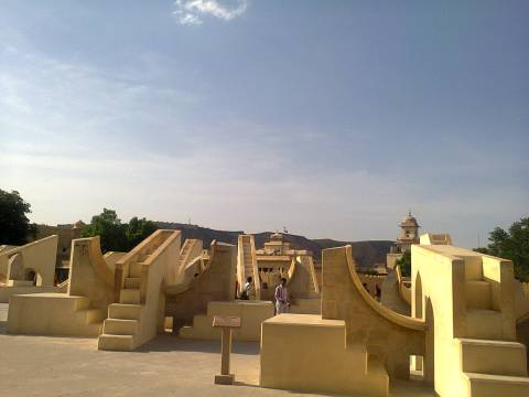 Jantar Mantar, Jaipur. Filled with all sorts of devices for astronomical measurements.