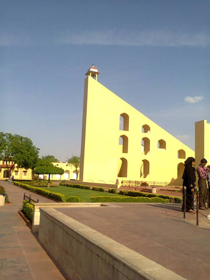 This is the world's largest sundial. Jantar Mantar, Jaipur.