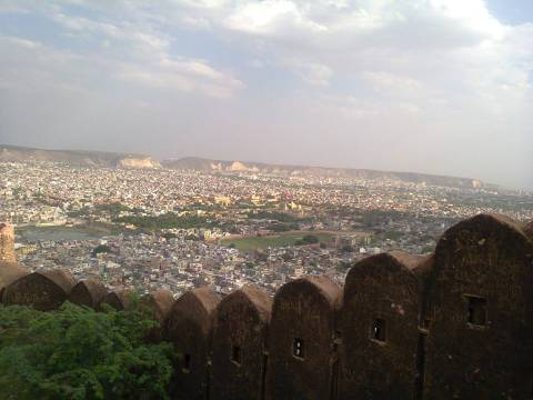 View from Nahargadh fort. Breath-taking.
