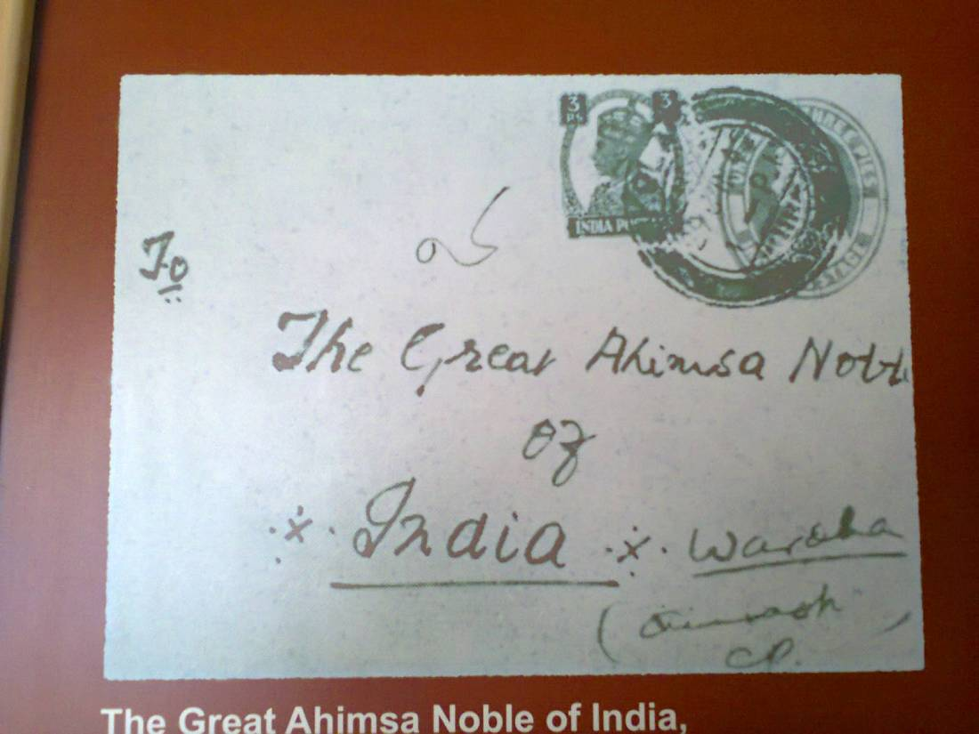 The Great Ahimsa Noble of India, Wardha.