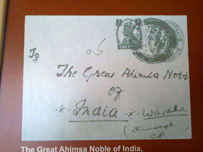 The Great Ahimsa Noble of India, Wardha.