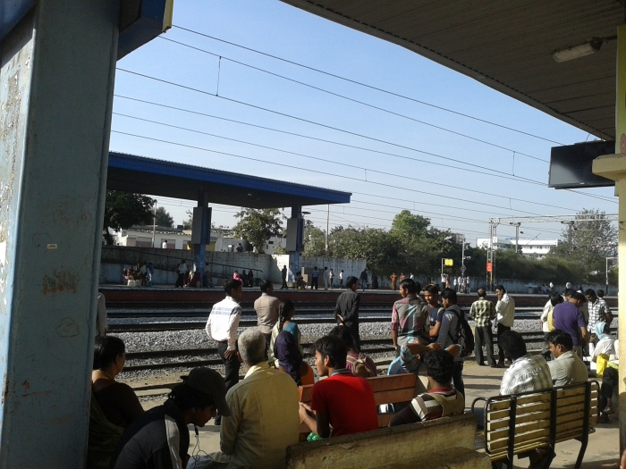 A MMTS train station, Hyderabad.