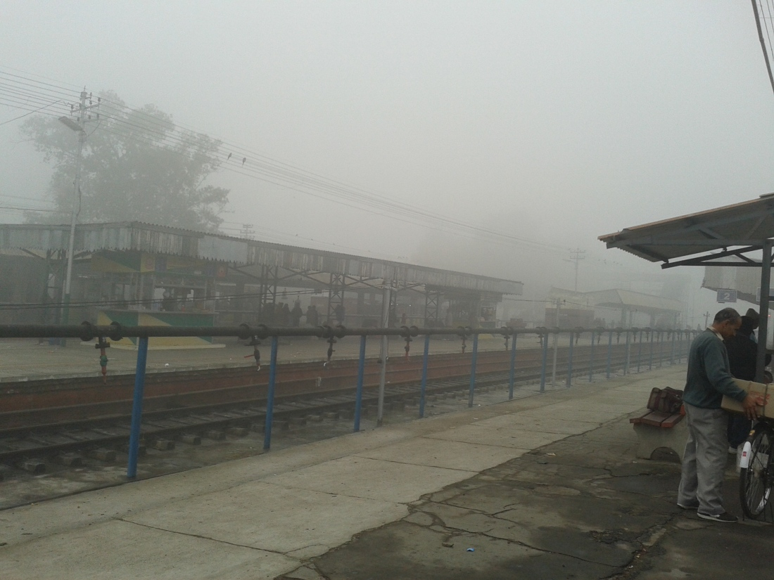 Bhatinda station, Punjab at 9 am. The entire north India was reeling under a cold wave.