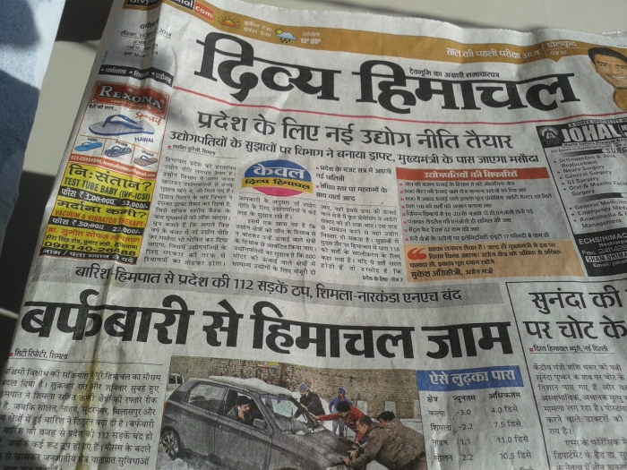 Headlines speak of recent heavy snowfall.