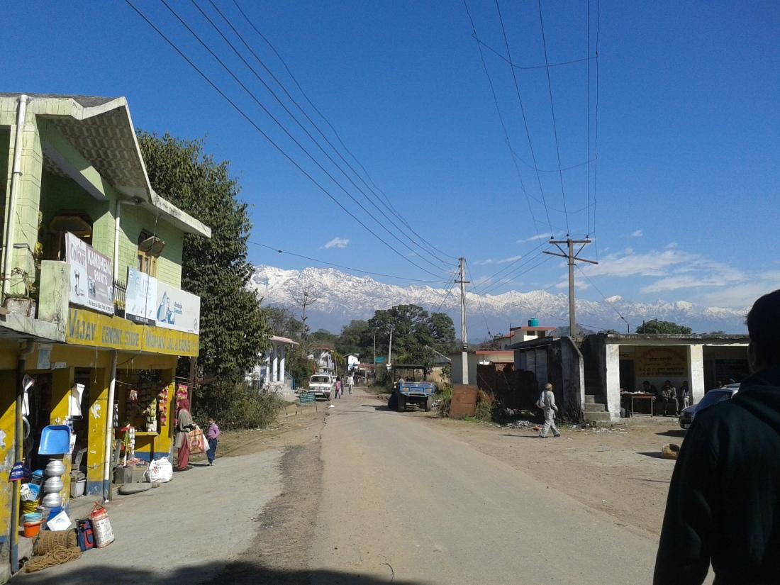 Main bazaar of Sunhi.
