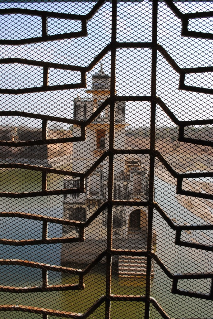 View of Jal Mahal from the fort hall.