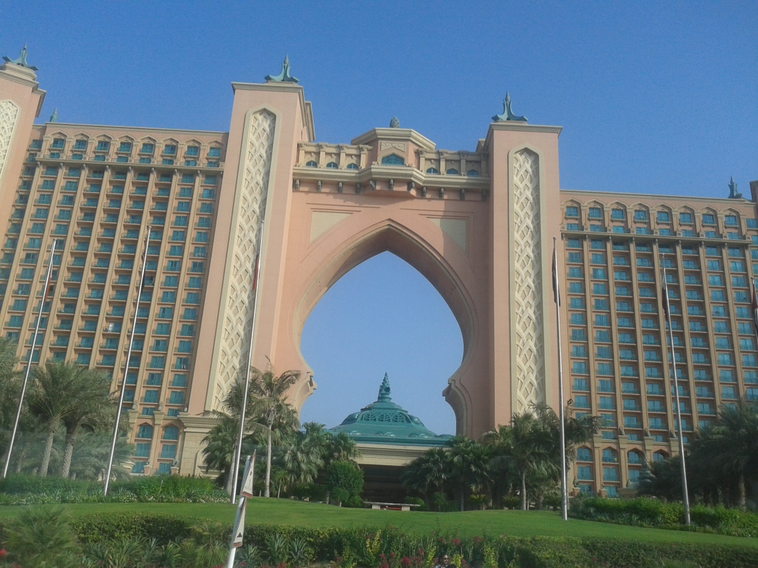 Atlantis hotel on the Palm.
