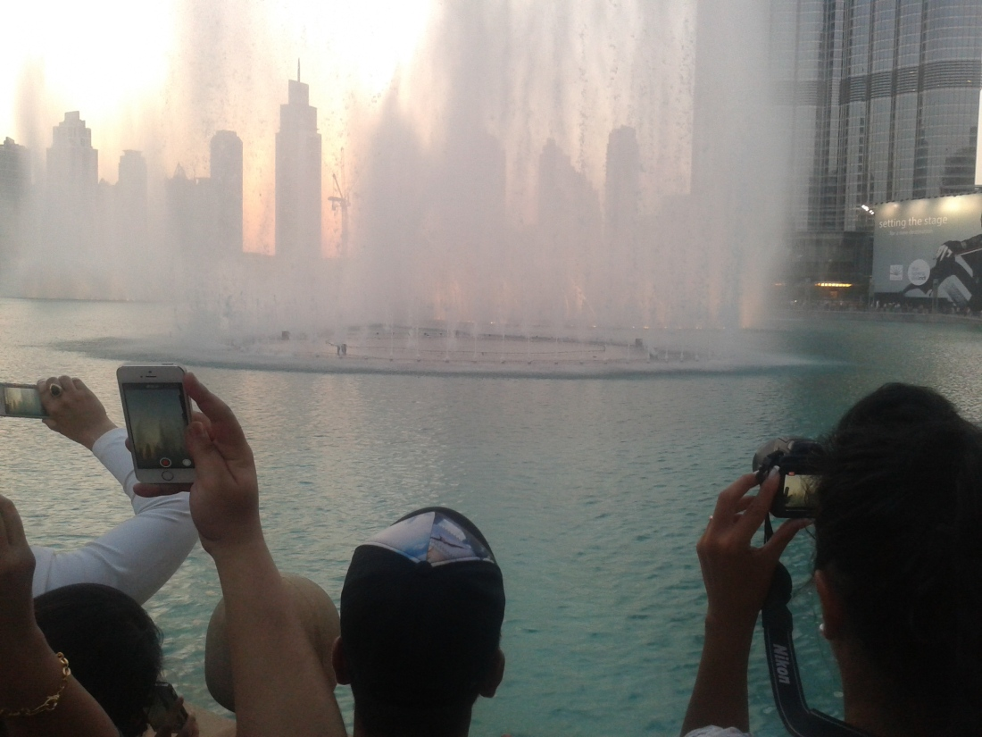 Fountain show at Dubai mall.