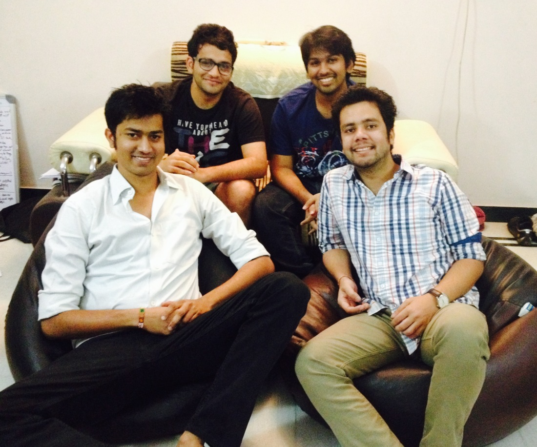 Team Medyog: (from left) Pranat Bhadani, Parth Dhoot, Shantanu Jain, Nitin Jain