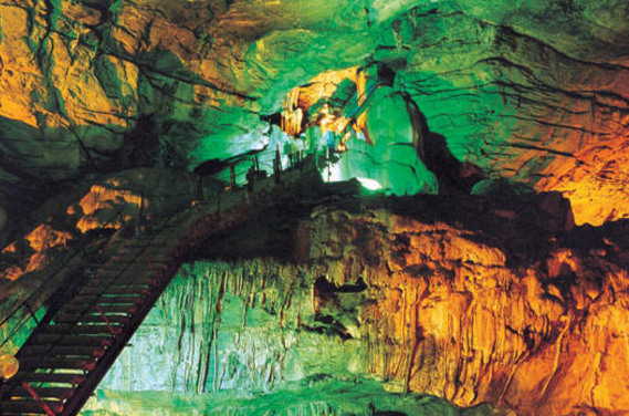 Inside Borra caves.