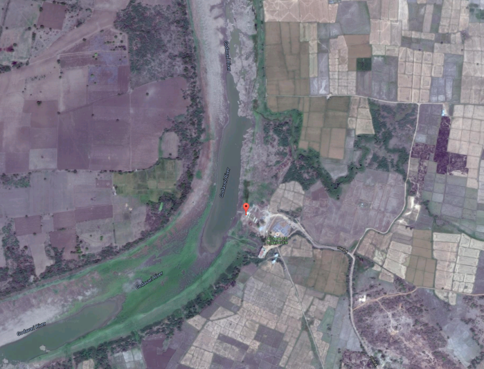 Kosli ghat from satellite imagery (courtesy - Google Maps).