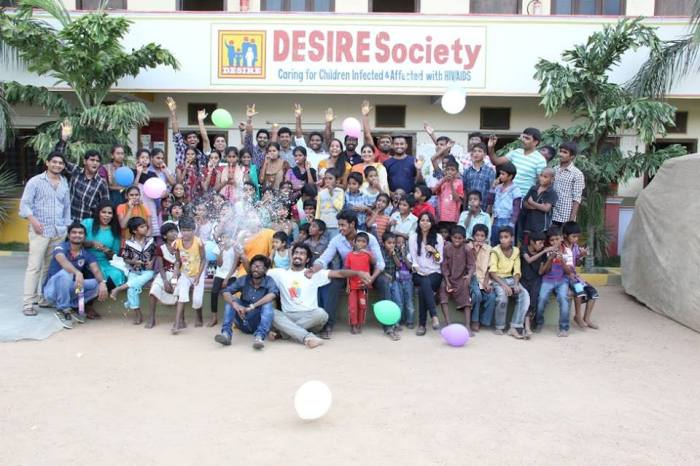 Desire Society, Bachupally (1 year anniversary of Smiles Across Miles), May 2015.