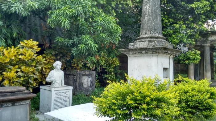 Inside cemetery